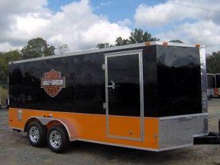 toy hauler cargo motorcycle trailer FREE Harley Davidson decals