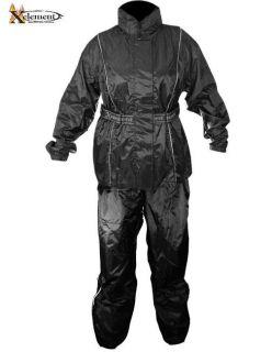 Ladies 2 Piece Black Motorcycle Rain suit lightweight S 5X