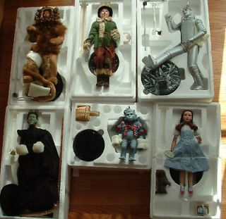 WIZARD OF OZ DOLL SET 6 TIMELESS MONKEY LION WITCH DOROTHY SCARECROW