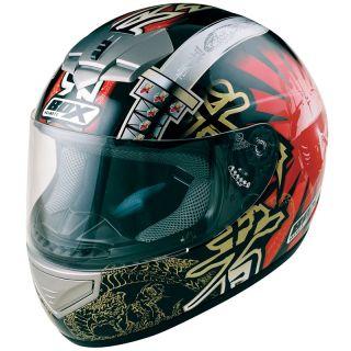 BX 1 SAMURAI JAPANESE FULL FACE MOTORBIKE MOTORCYCLE HELMET GHOSTBIKES