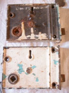 Lot of 2 Original Old mortise locks lock Same Lock Pair