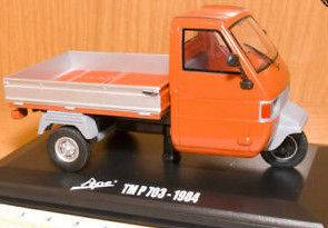 Piaggio Ape 3 wheel Car TM P 703 Orange Pickup 1984