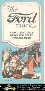 1923 Ford Model T Truck Brochure