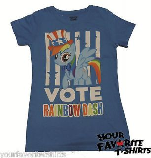 My Little Pony Vote Rainbow Dash 20% Cooler USA Licensed Woman Junior