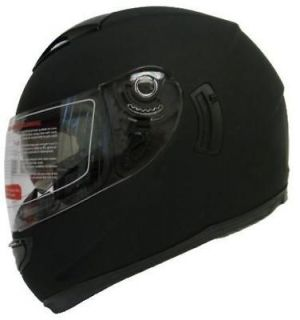 SUN SHIELD FULL FACE MOTORCYCLE STREET HELMET MATTE BLACK ~XL/XLARGE