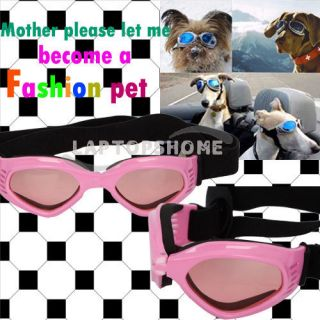 SummerPet Dog UV Goggles Sun Glasses Pet Really Cool Glasses Pink