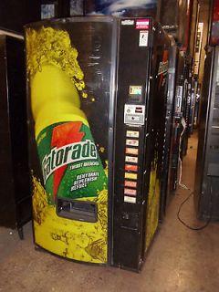 Dixie Narco 501E soda machine with Gatorade front