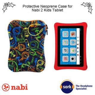 Nabi Padded Neoprene Zipped Case Also for iPad Tablet Netbook Innotab