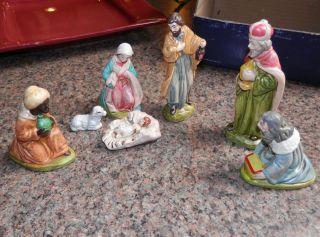 Vintage Nativity Set   Colonial of Cape Cod   7 Piece Set