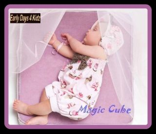 BABY GIRLS TODDLER ROMPER OUTFIT SIZE 00,0,1,2 BROWN AND PINK