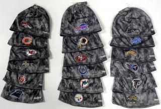 NWT NFL Reebok Player Sideline Gray Camo Camouflage Knit Hat Beanie