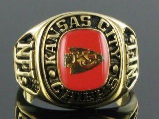 Balfour Ring Football Kansas City Chiefs Offical Nfl Team Sz 7