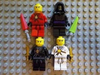 NEW LEGO NINJAGO MINIFIGURES 3 NINJAS + LORD GARMADON + SWORDS