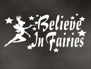 BELIEVE IN FAIRIES princess decal for child girl room door truck or