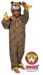 NEW* Kids Safari Plush Full Body Hooded Cheetah Costume