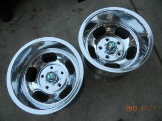 JUST POLISHED 15x10 INDY SLOT MAG WHEELS FORD TRUCK GASSER JEEP DRAG