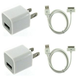 AC Power Adapter Wall Charger Plug + SYNC Cable iPod iPhone 3GS 4 4S