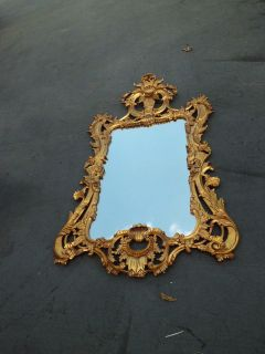 51056 DECORATOR GOLD LARGE ORNATE WALL MIRROR