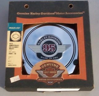 HARLEY DAVIDSON EVOLUTION 95TH ANNIVERSARY AIR CLEANER INSERT; X64