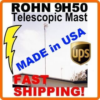 30 34 FT TELESCOPIC PUSH UP TV ANTENNA MAST MOUNT POLE TELESCOPING