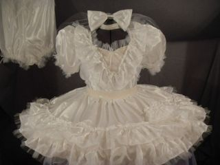 NEW~ADULT BABY SISSY DRESS UP~MizzGlamour​~ BRIDAL MIZZ~