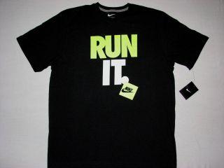 Nike Mens Run It T Shirt Black Neon NWT Air Max 95 525796