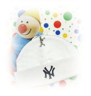 NEW YORK YANKEES ~ Newborn Baby Hat BASEBALL CHARM (ny)