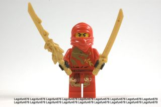 Lego New Ninjago Red Ninja KAI DX Dragon Minifigure mini figure w