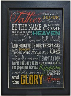 The Lords Prayer Print Inspirational Our Father Country Primitive Art