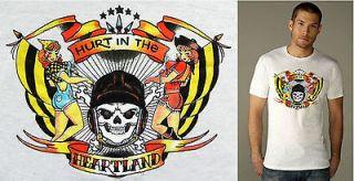 Retro Pinup Mens Medium Burnout T Shirt Rockabilly Sailor Jerry Iowa
