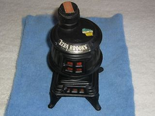 Ezra Brooks Decanter 1968 Antique Pot Belly Stove. Old Whiskey Bottle