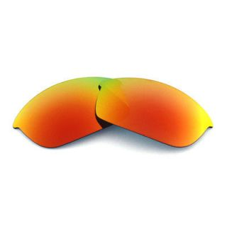 Fire Red Replacement Lenses For Oakley Flak Jacket Sunglasses