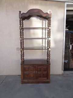 ethan allen antiqued pine old tavern curio boof shelf cabinet AAA