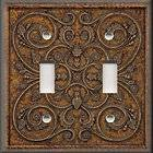 Light Switch Plate Cover   Wall Decor   French Pattern Image   Brown