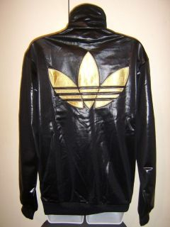 NEW ADIDAS CHILE 62 TREFOIL MENS WOMENS TRACK TOP JACKET BLACK