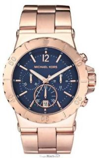 Newly listed MK5410 Michael Kors Rose Gold Navy Dial Oversized Watch