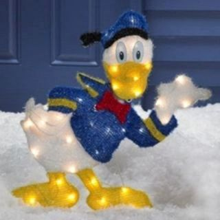 Disney Donlad Duck Lighted Tinsel Christmas Outdoor Decor New