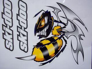 SKI DOO KILLER BEE DECAL SET OF 2