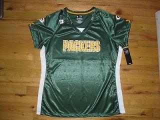 NFL Green Bay Packers Rhinestone Matthews Green Jersey Top Sz Medium