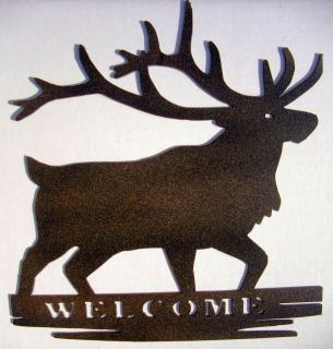 Deer,Metal Art,Cabin,Northwoods,Lodge,Welcome Sign,Wall Decor,Woodsy