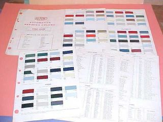 1968 TOYOTA VW VOLVO OPEL DATSUN PAINT CHIP COLOR CHART