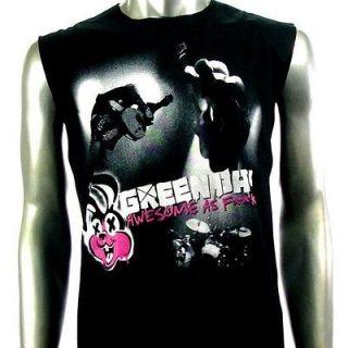 Sz M Green Day Billie Joe Sleeveless T Shirt Tank Top Punk Rock Men