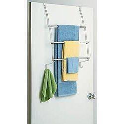 Over The Door Towel Rack   Chrome   by Better Sleep   454CHR/D