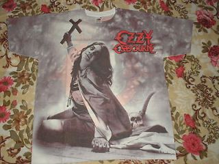OZZY OSBOURNE SHIRT ALLOVER BLIZZARD OF OZZ HEAVY METAL NEW CULT RARE