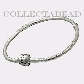 Authentic Pandora Silver Bracelet with Pandora Lock 7.5