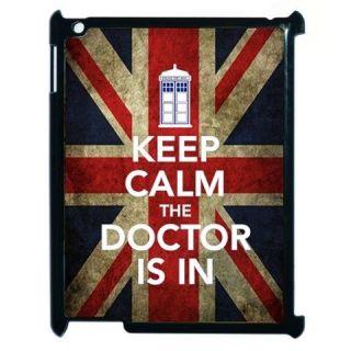 Calm UK GB Blue Police Call Box Tardis Dr Who iPad 2 Hard Case Cover