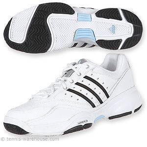 NEW Adidas Ambition Stripes IV women 6 1/2 m wht/blu