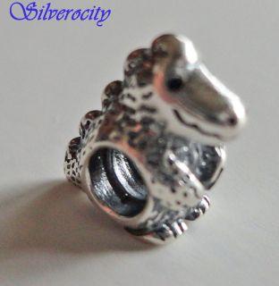 RARE / RETIRED Authentic Pandora DINOSAUR Charm Bead 925 ALE 790407