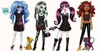 24 MONSTER HIGH EDIBLE STAND UP FIGURES CAKE DECORATION TOPPERS