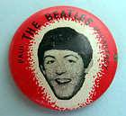 PAUL McCARTNEY BEATLES ORIGINAL 1964 PINBACK BUTTON #46
